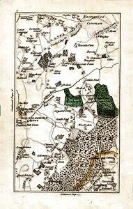 Map John Cary 1790 Waltham Abbey Nazeingwood Loughton Debden Photo print Canvas