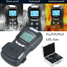 4 in 1 Gas Detector CO H2S O2 Oxygen LEL Toxic Gas Monitor Tester Analyzer
