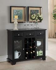 Buffet Server Sideboard Cabinet with Wine Storage, Black