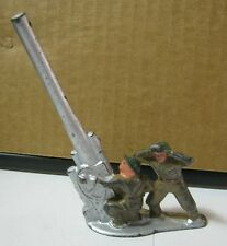 Toy 2 Lead Soldiers with Long Military Cannon    T*