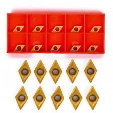 10pcs DCMT0702 DCMT070204 US735 Inserts For Lathe Turning Tool Boring Bar + Box