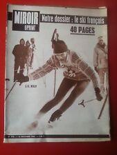 16/12/63 miroir sprint n°915 LE SKI FRANCAIS KILLY RUGBY FRANCE ROUMANIE