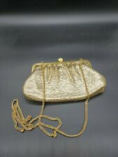 Vintage Whiting And Davis Gold Mesh Clutch Purse
