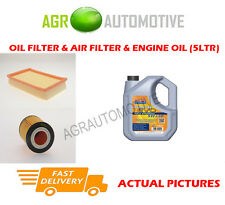 PETROL OIL AIR FILTER KIT + LL 5W30 OIL FOR OPEL AGILA 1.0 58 BHP 2000-03