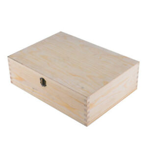 Selection of Wooden Plain A4 Size Storage Boxes / Documents Magazine Case Holder