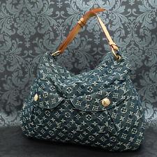 Rise-on  LOUIS VUITTON MONOGRAM Denim Daily GM Blue Shoulder bag Handbag #7