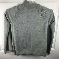 New NWT Women's Chico's Trina Cape Pullover Sweater Gray Glitter Size 2