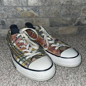 Convers all star plaid shoes mens size 8