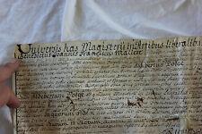 PARCHEMIN DE BENEDICTUS JOANNES FRANCISCUS MALIERE