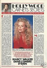 Coupure de presse Clipping 1990 Marcy Walker  (3 pages) Santa Barbara