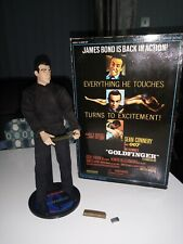 "James Bond Sideshow Collectibles Action Figure 12"" Goldfinger Sean Connery Rare"
