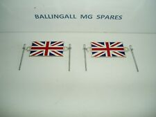 UNION JACK BADGES X 2 (PAIR) WITH ALLOY RIVETS  - TRADITIONAL ENAMEL 215-608 MG