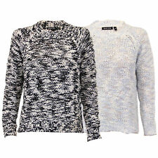 Ladies Jumper Brave Soul Womens Cable Knitted Sweater Crew Neck Pullover Winter