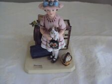 Norman Rockwell Figurine Vacation's Over 1981