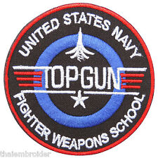 TOP GUN US USA Navy Pilot Air Force Attack Fighter Weapons Iron on Patches #P004