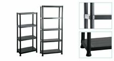 More details for new 4 / 5 tier plastic shelving racking shelves unit storage house garage shed