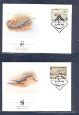 Bangladesh 1990 Reptile's, Wild Animals, WWF  FDC. VF