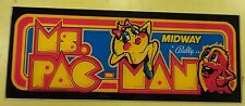 Ms Pacman Arcade Game Marquee on lexan