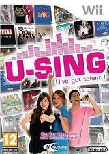 Nintendo Wii U-Sing U've got talent karaoke PAL game new sealed