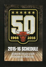 Chicago Bulls--2015-16 Pocket Schedule--Bud Light