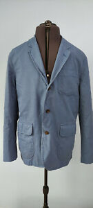 Polo by Ralph Lauren Mens Casual Unconstructed Blazer Jacket Cotton Blue 46 56 R