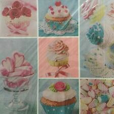 PAPER NAPKINS / SERVIETTES PACK OF 20 CUPCAKE VARIETY DESIGN