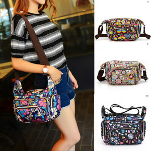Womens Multi-Pocket Messenger Cross Body Handbag Ladies Hobo Bag Shoulder Bag
