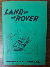 Land Rover Operation Manual 1950