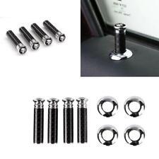 4Pcs Carbon Fiber Car Door Interior Door Lock Knob Pull Pins Pin Cover Security