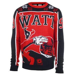 NFL Ugly Sweater Houston Texans J.J.Watt 99 Football Jumper Christmas Style
