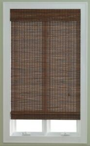 """2 NEW JCPENNEY WOVEN PECAN WOOD ROLL UP ROMAN SHADES (1) 29""""Wx72""""L (1) 31""""Wx72"""""""