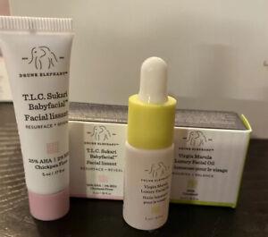 DRUNK ELEPHANT T.L.C. Sukari Babyfacial MASK & Virgin Marula Luxury Facial OIL🌷