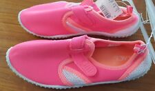 NEW Children's Place Girls Water Shoes SZ 4/5 Neon Pink Orange Beach Swim #39818