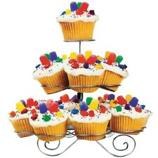 3 TIER SPIRAL CUPCAKE STAND - Fairy/Muffin/Cup Cake Metal Dessert Display Holder