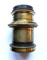 Antique E&T Underwood Rapid Rectilinear 1/2 Plate f/8 Camera Brass Lens