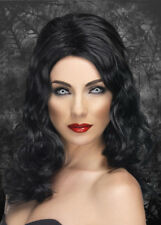 Ladies Gothic Black Glamorous Wig