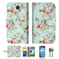 Royal Garden Wallet TPU Case Cover For Samsung Galaxy S4 -- A023