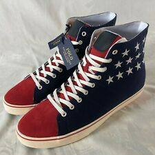 Polo Ralph Lauren Solomon IV Shoes Size 13 4th Of July Edition USA Flag NEW