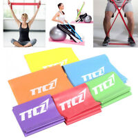 1.5m Yoga Elastic Pilates Rubber Stretch Resistance Exercise Fitness Band Belt