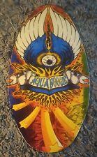 Vintage Retro Wood Aqua Boogie Skimboard 👁️ Eyeball Multicolor 🏄 Boogie Board