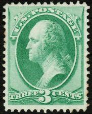 US Sc# 147 *UNUSED NG LH* { -VF- 3c WASHINGTON } NATIONAL BANK NOTE 1870 SERIES