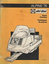 1976 SKI-DOO ALPINE SNOWMOBILE PARTS MANUAL 480 1033 00 (586)
