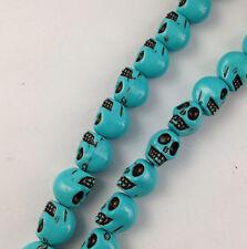 3 Strands of 40 pcs turquoise skull acrylic beads for shamba11a making