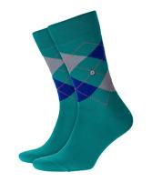BURLINGTON Men's 1 Pair King Cotton Mix Argyle Socks 6.5 - 11(Moss-Mel-7870)