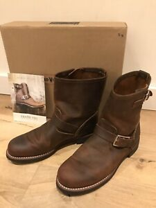 RRP £300 Red Wing Brown Copper Short Engineer Boots NEW UK 7