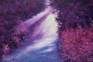 Original Oil Painting On Canvas - Landscape - Dreamland