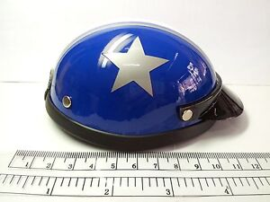 Helmet Hat Cap Blue Big Gray Star Dog Cat Costume Accessory Pet Supplies Safety