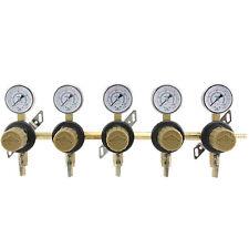 5-Way Secondary Air Regulator - Polycarbonate Bonnet - CO2 to 5 Draft Beer Kegs!