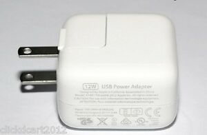 12W USB Power Adaptor Charger For iPad Mini,iPad 3/4,iPhone 7/6/SE5/5S,iTouch 5