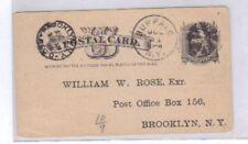 William W. Rose, Exr - Downtown Brooklyn Postcard 1883